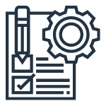 Custom form icon to demonstrate custom services