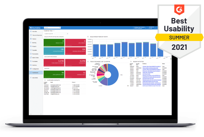 Acumatica Best Usability Summer 2021